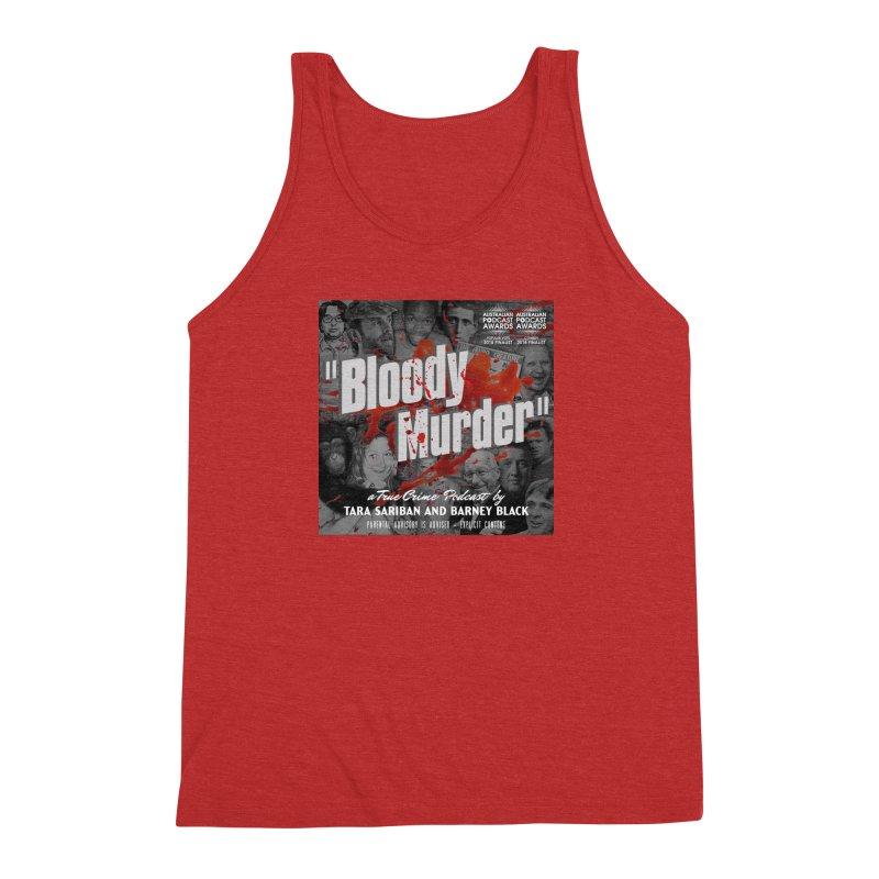 Bloody Murder Podcast Album Cover Men's Triblend Tank by bloodymurder's Artist Shop