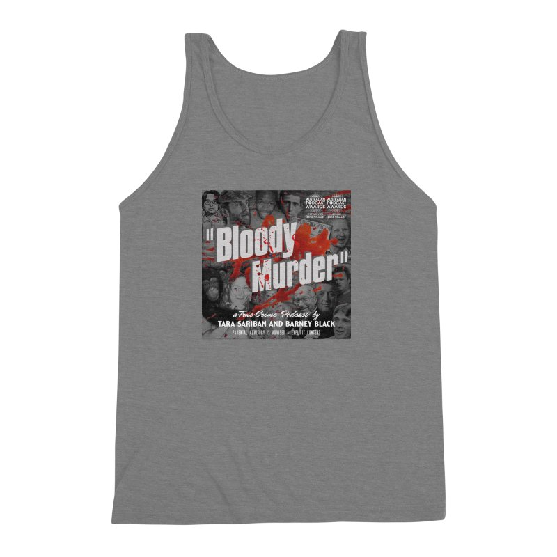 Bloody Murder Podcast Album Cover Men's Triblend Tank by Bloody Murder's Artist Shop
