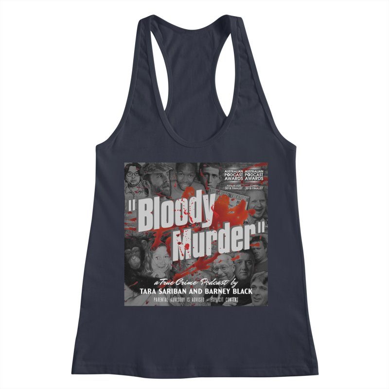 Bloody Murder Podcast Album Cover Women's Racerback Tank by Bloody Murder's Artist Shop