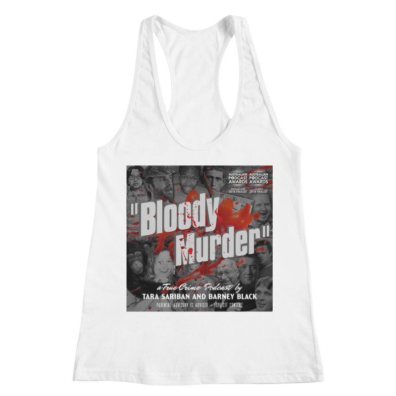 Bloody Murder Podcast Album Cover Women's Racerback Tank by Bloody Murder's Artist Shop