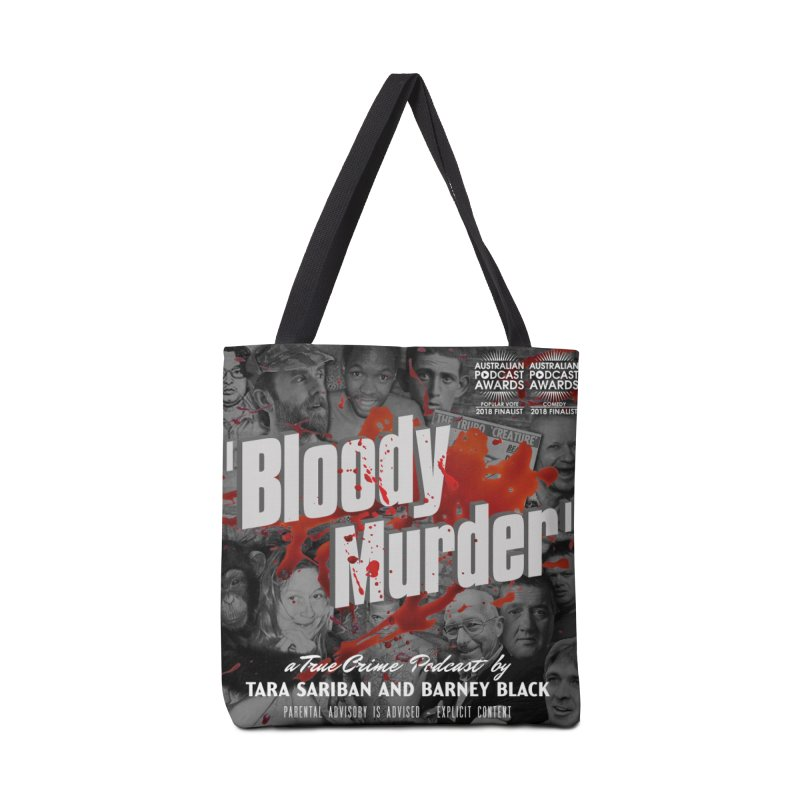Bloody Murder Podcast Album Cover Accessories Bag by bloodymurder's Artist Shop
