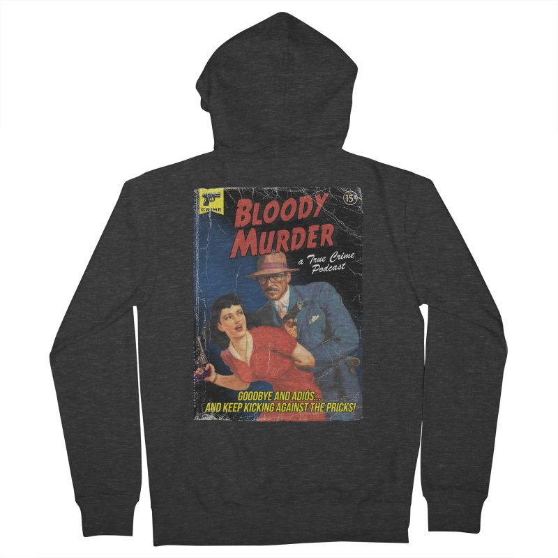 Bloody Murder Pulp Novel Men's French Terry Zip-Up Hoody by Bloody Murder's Artist Shop