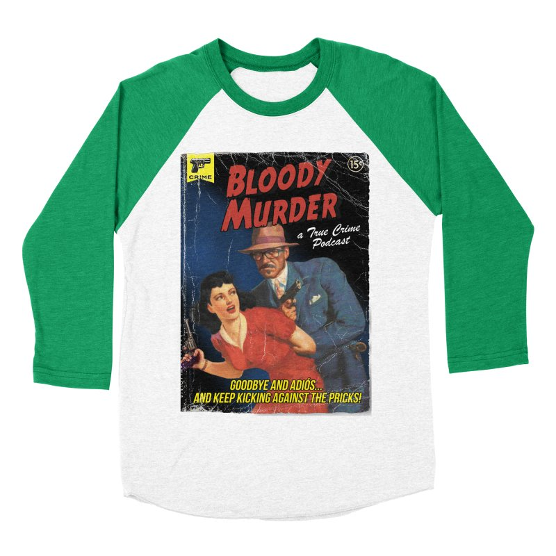 Bloody Murder Pulp Novel Women's Baseball Triblend Longsleeve T-Shirt by Bloody Murder's Artist Shop