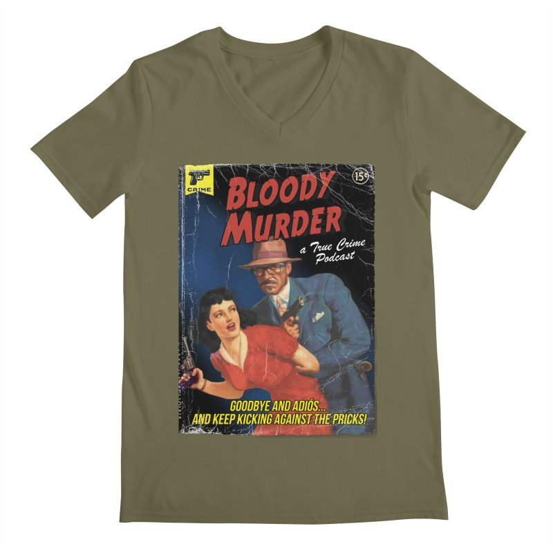 Bloody Murder Pulp Novel Men's Regular V-Neck by Bloody Murder's Artist Shop