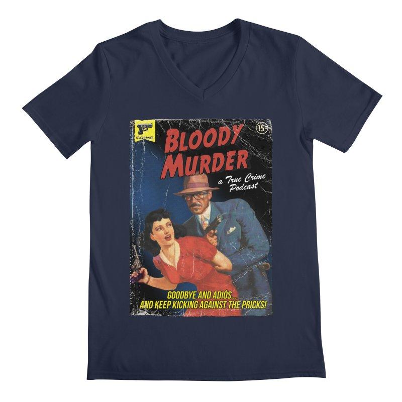 Bloody Murder Pulp Novel Men's Regular V-Neck by Bloody Murder's Artist Shop