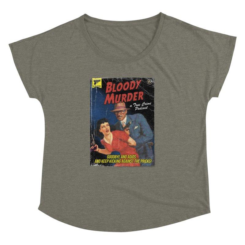 Bloody Murder Pulp Novel Women's Scoop Neck by Bloody Murder's Artist Shop
