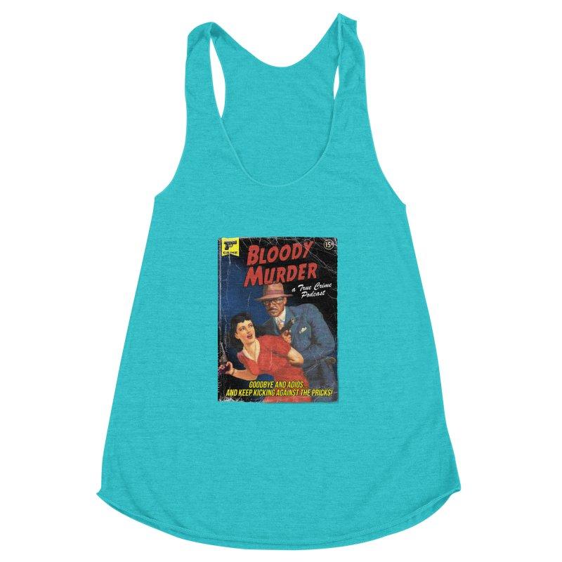 Bloody Murder Pulp Novel Women's Racerback Triblend Tank by bloodymurder's Artist Shop