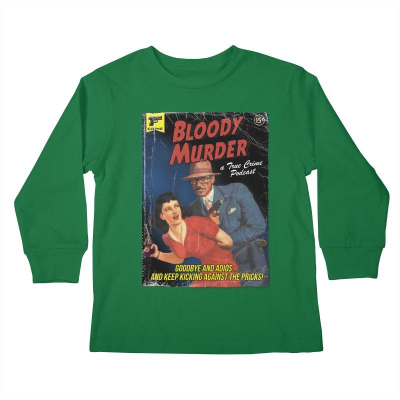 Bloody Murder Pulp Novel Kids Longsleeve T-Shirt by bloodymurder's Artist Shop