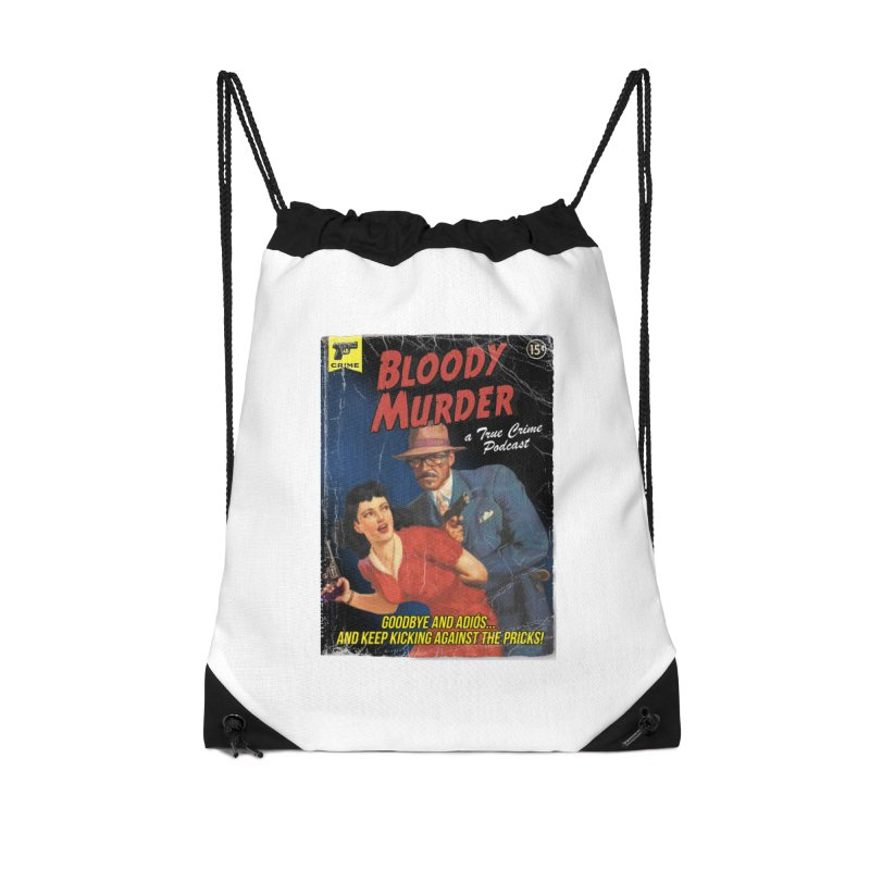 Bloody Murder Pulp Novel Accessories Drawstring Bag Bag by Bloody Murder's Artist Shop