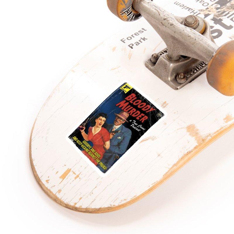 Bloody Murder Pulp Novel Accessories Sticker by Bloody Murder's Artist Shop