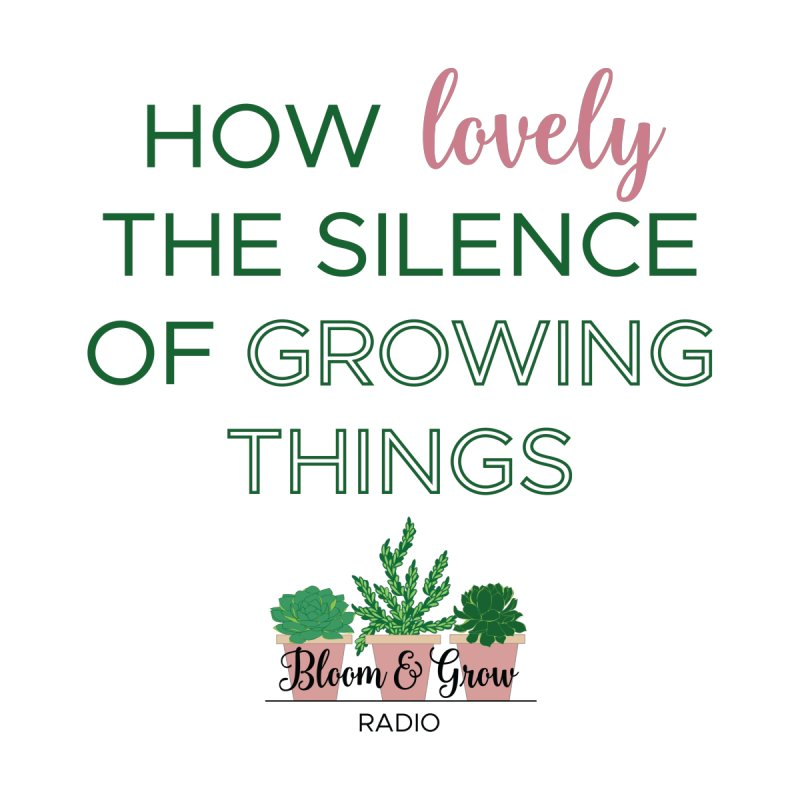 How Lovely The Silence of Growing Things Accessories Zip Pouch by Bloom & Grow Radio Shop