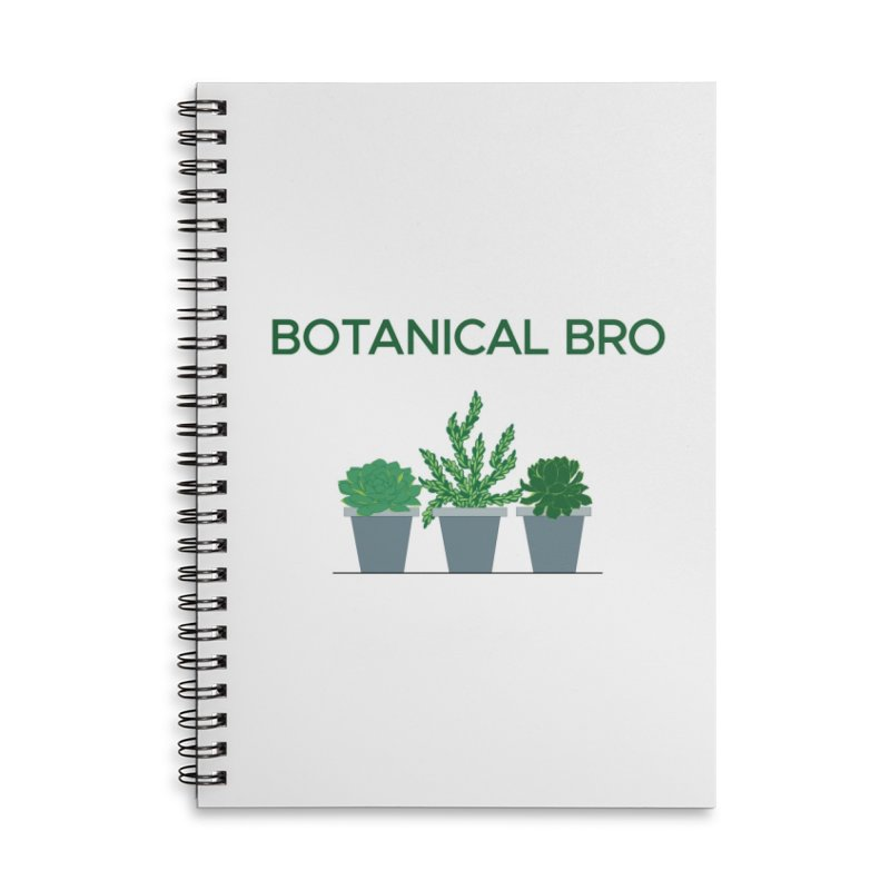Botanical Bro Accessories Lined Spiral Notebook by Bloom & Grow Radio Shop