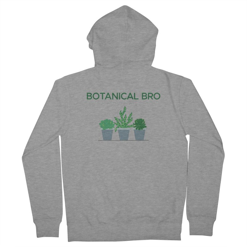 Botanical Bro Men's Zip-Up Hoody by Bloom & Grow Radio Shop
