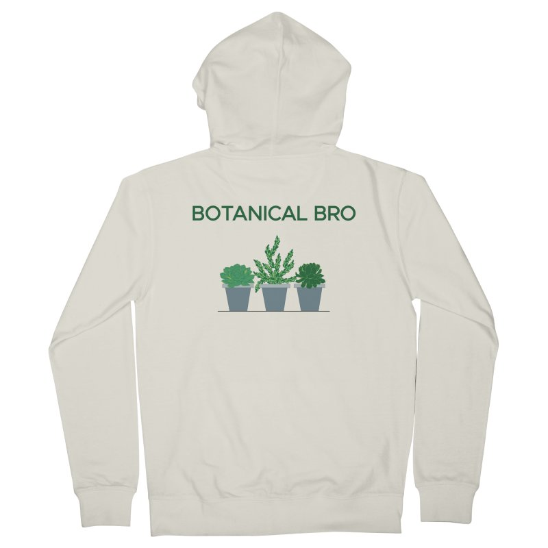Botanical Bro Men's French Terry Zip-Up Hoody by Bloom & Grow Radio Shop
