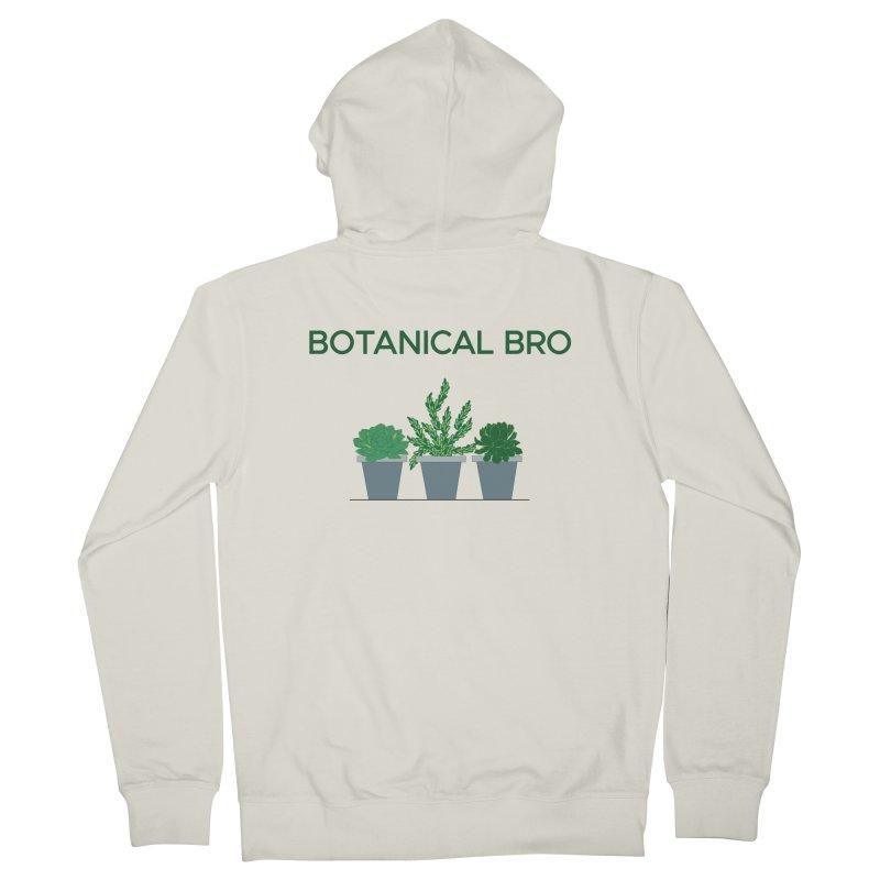 Botanical Bro Men's French Terry Zip-Up Hoody by Bloom & Grow Radio Shop