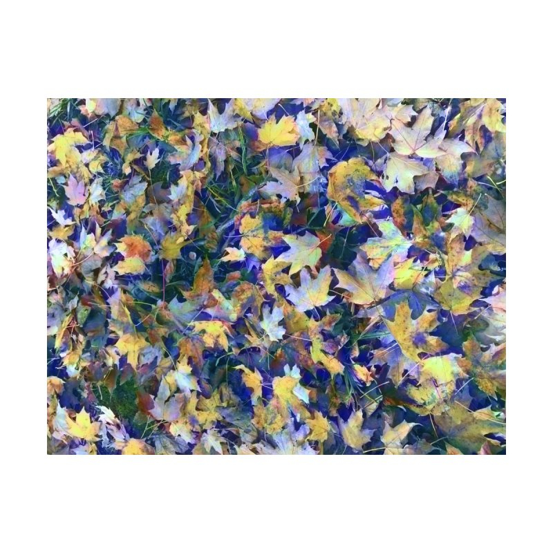 Late October Leaves in Blue by bloomingvine's Artist Shop