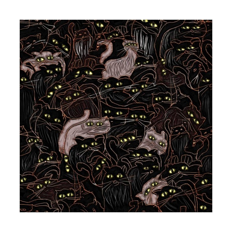 Cats on Black by bloomingvine's Artist Shop