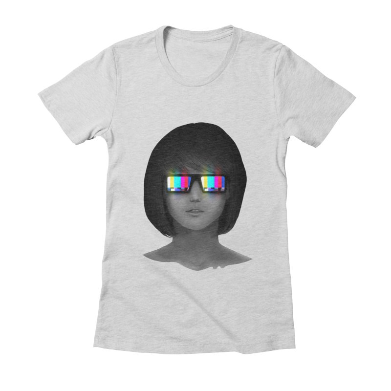 Tele Vision Women's Fitted T-Shirt by Sam Arias