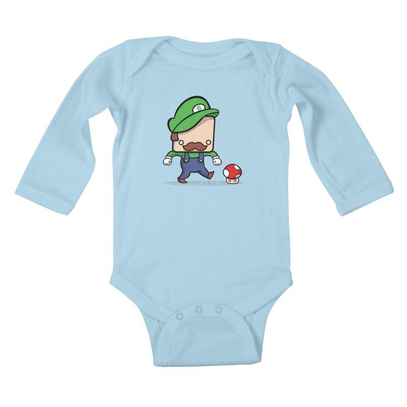 Loving Life Kids Baby Longsleeve Bodysuit by Bloque Art