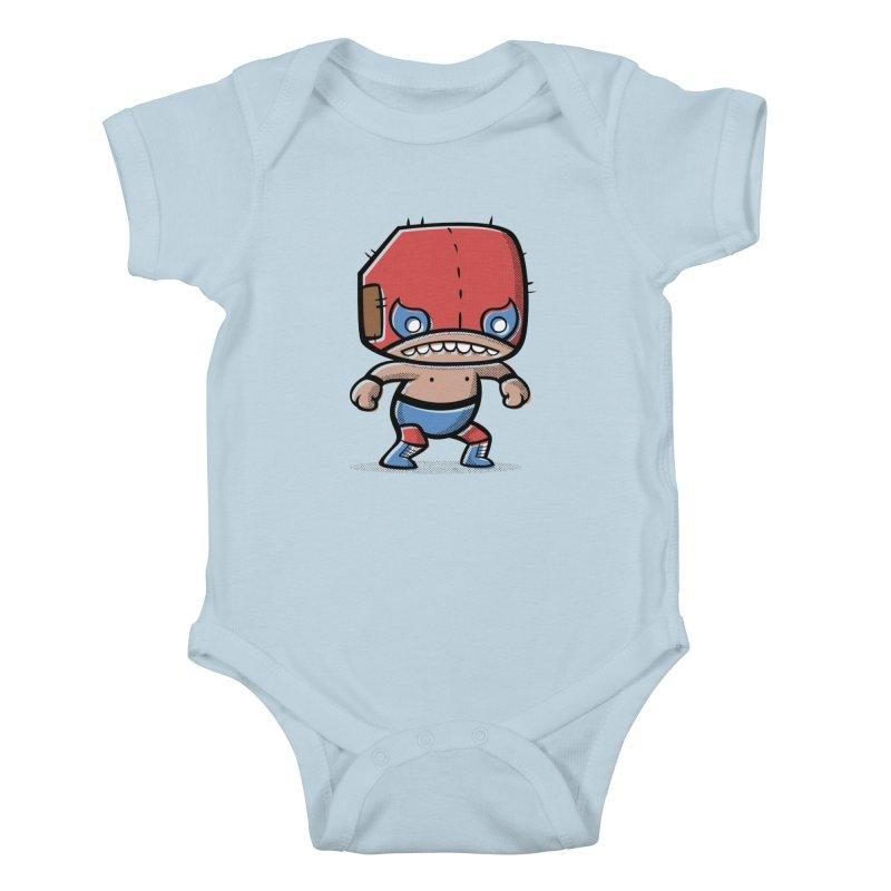 Lucha Libre Kids Baby Bodysuit by Bloque Art