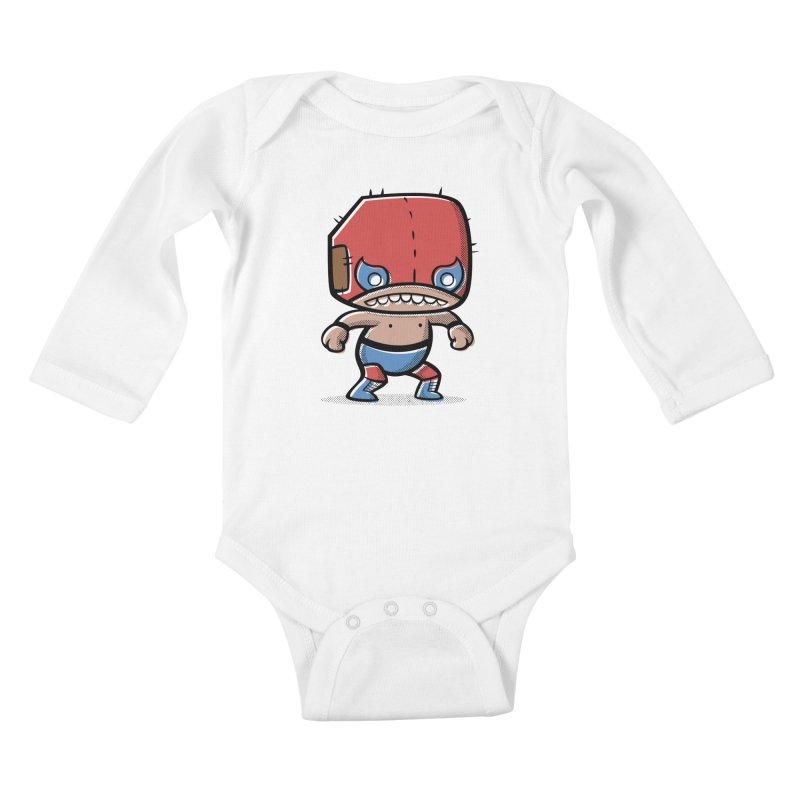 Lucha Libre Kids Baby Longsleeve Bodysuit by Bloque Art