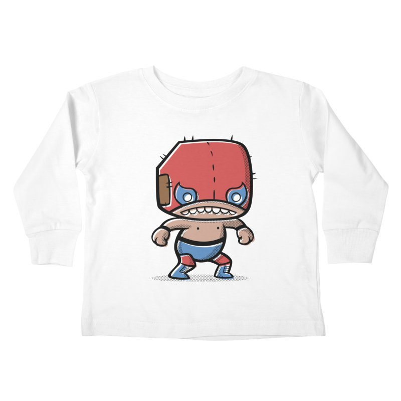 Lucha Libre Kids Toddler Longsleeve T-Shirt by Bloque Art