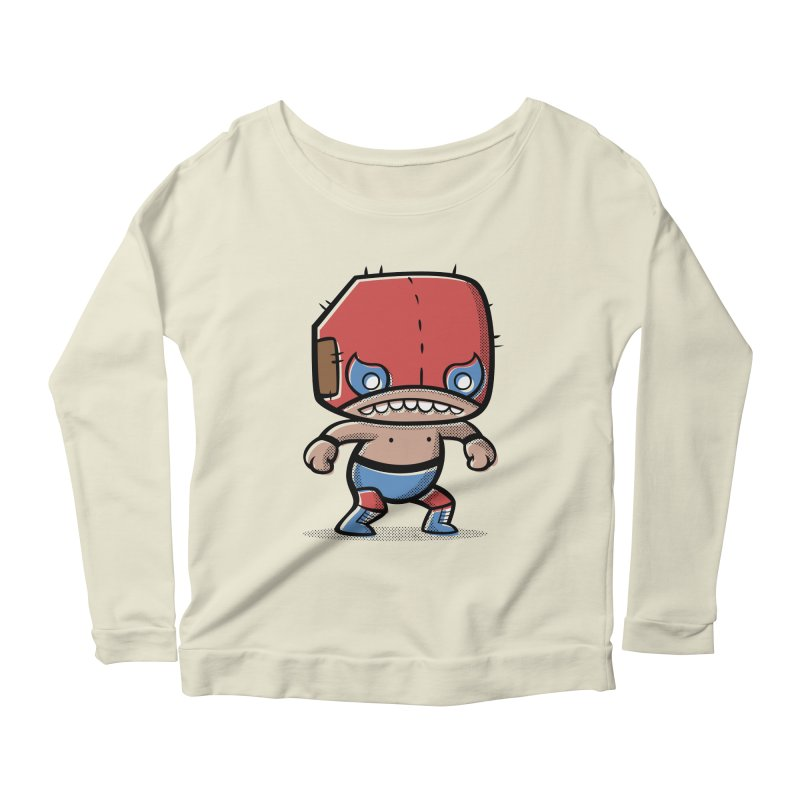 Lucha Libre Women's Longsleeve Scoopneck  by Bloque Art
