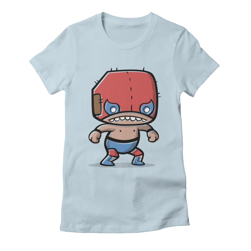 Lucha Libre Women's Fitted T-Shirt by Bloque Art
