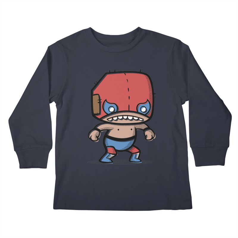 Lucha Libre Kids Longsleeve T-Shirt by Bloque Art