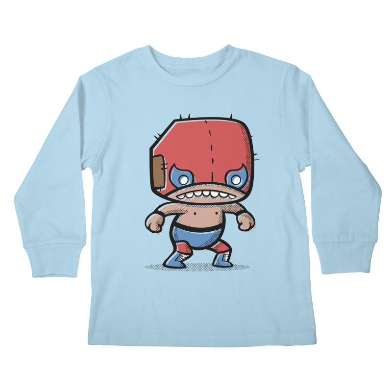 Lucha Libre Kids Longsleeve T-Shirt by Bloque Art