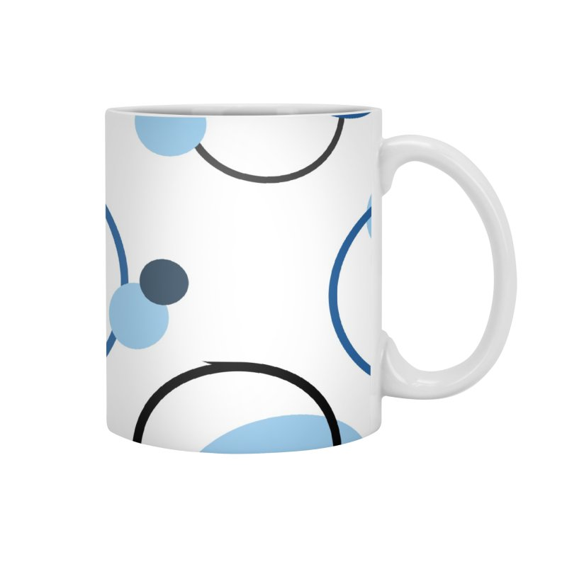 Blue, Navy, Circles, Pattern, Design, Dots, Geometric Accessories Mug by BlueBellaDonna