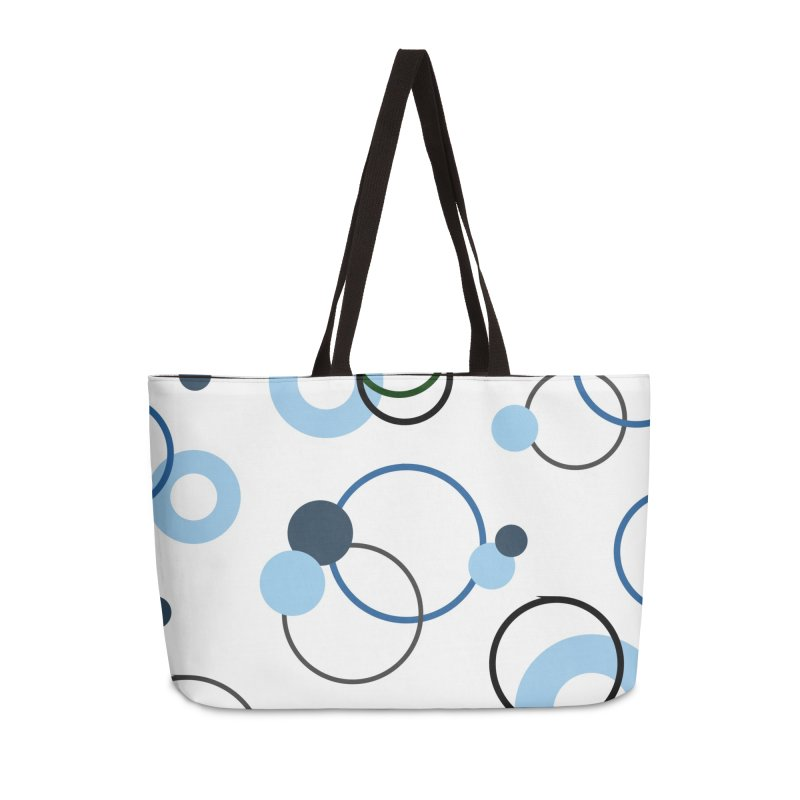 Blue, Navy, Circles, Pattern, Design, Dots, Geometric Accessories Bag by BlueBellaDonna