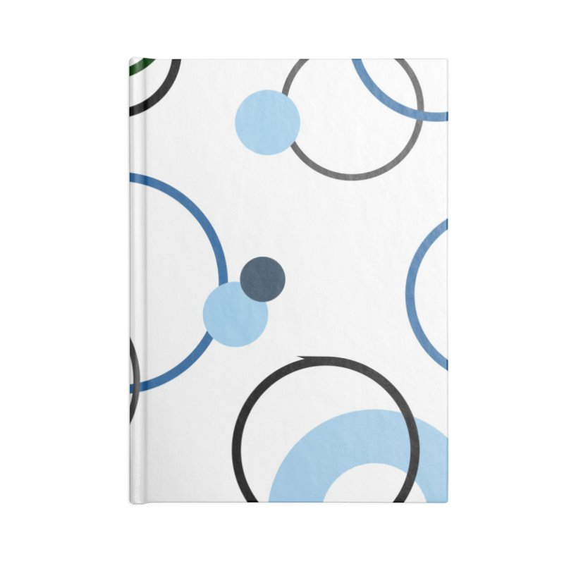 Blue, Navy, Circles, Pattern, Design, Dots, Geometric Accessories Notebook by BlueBellaDonna