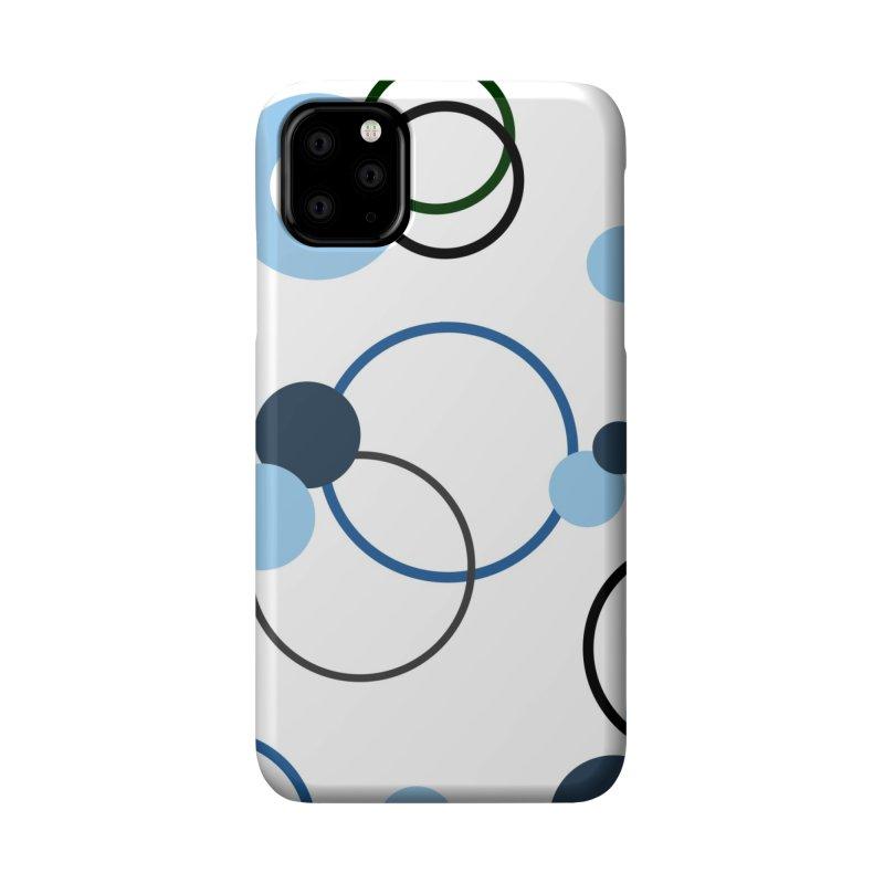 Blue, Navy, Circles, Pattern, Design, Dots, Geometric Accessories Phone Case by BlueBellaDonna