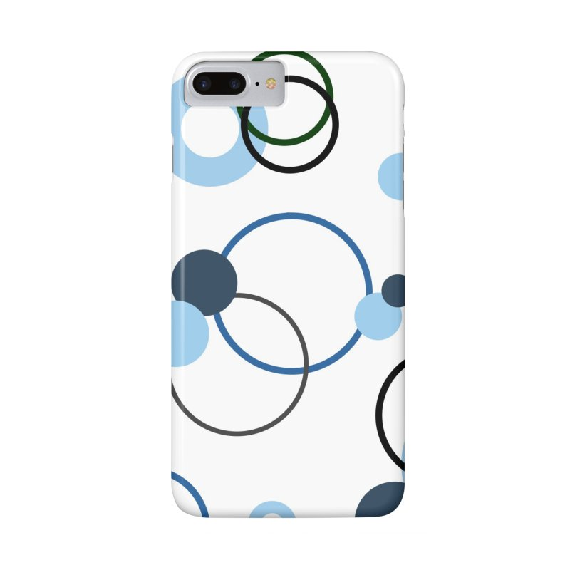 Blue, Navy, Circles, Pattern, Design, Dots, Geometric Accessories Phone Case by BlueBellaDonna