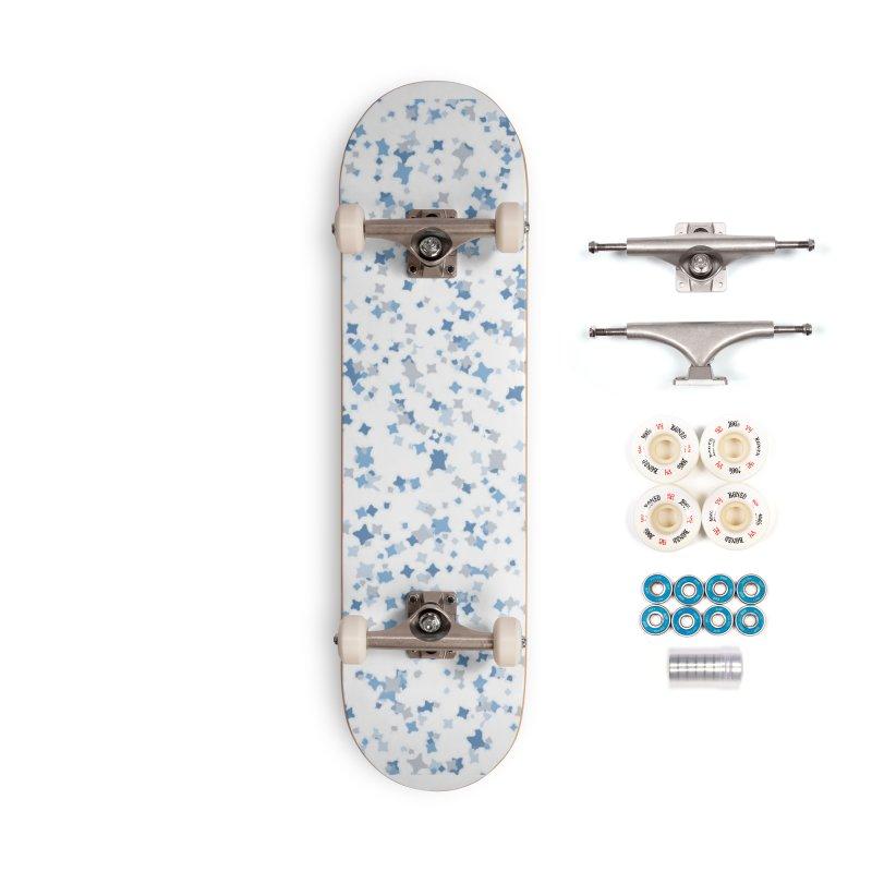 """""""Blue & Gray Confetti (1)"""" Accessories Complete - Premium Skateboard by BlueBellaDonna"""