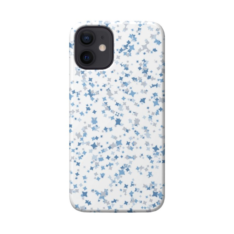 Blue and Gray Confetti, Blue, Grey, Stars, Pattern, Shapes, Geometric, Design Accessories Phone Case by BlueBellaDonna