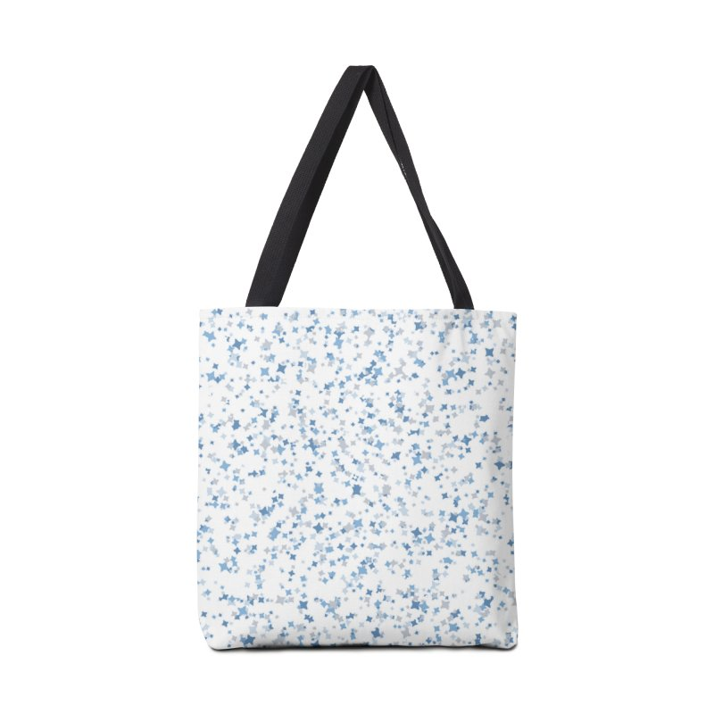 Blue and Gray Confetti, Blue, Grey, Stars, Pattern, Shapes, Geometric, Design Accessories Bag by BlueBellaDonna