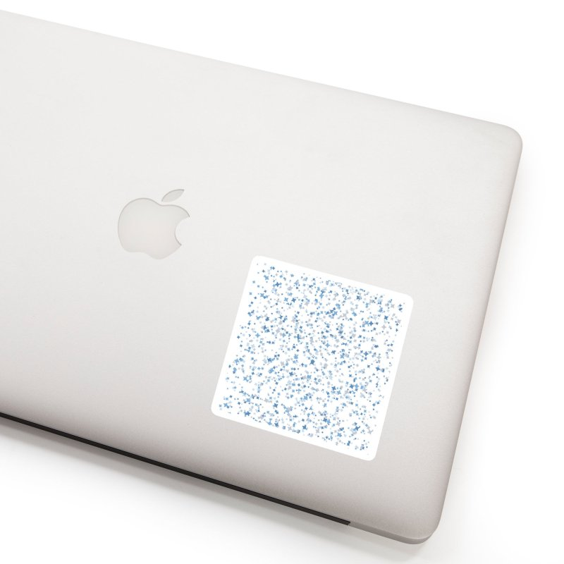 Blue and Gray Confetti, Blue, Grey, Stars, Pattern, Shapes, Geometric, Design Accessories Sticker by BlueBellaDonna