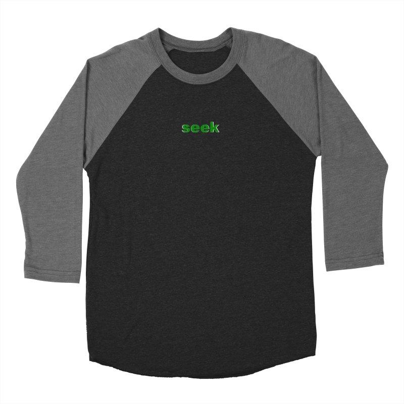 seek Women's Baseball Triblend Longsleeve T-Shirt by Blue Chip Mindset