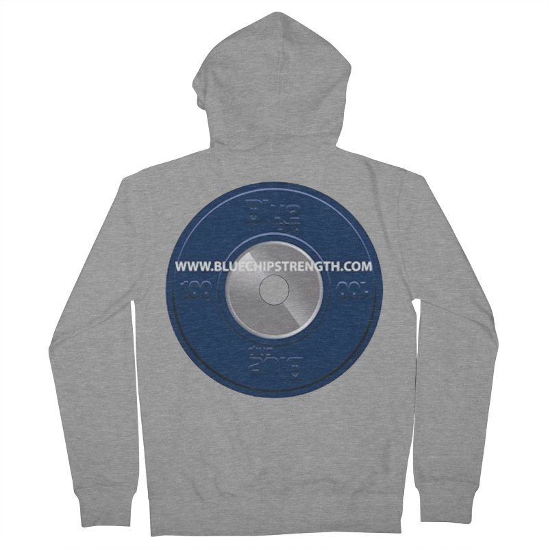 The Logo (Available in multiple colors) Women's French Terry Zip-Up Hoody by Blue Chip Strength's Artist Shop