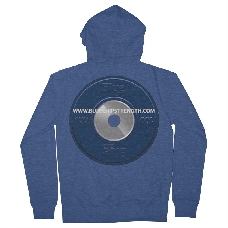 The Logo (Available in multiple colors) Men's French Terry Zip-Up Hoody by Blue Chip Strength's Artist Shop