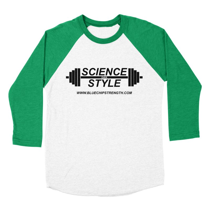Science Over Style (Available in multiple colors) Men's Baseball Triblend Longsleeve T-Shirt by Blue Chip Mindset