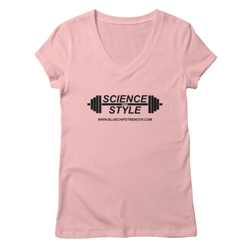 Science Over Style (Available in multiple colors) Women's V-Neck by Get Your Ass Moving T's & Tanks