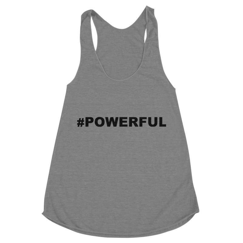 POWERFUL Women's Racerback Triblend Tank by Blue Chip Mindset