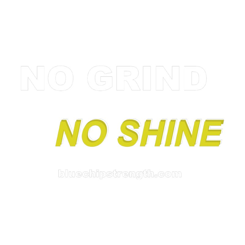 NO GRIND NO SHINE by Blue Chip Mindset
