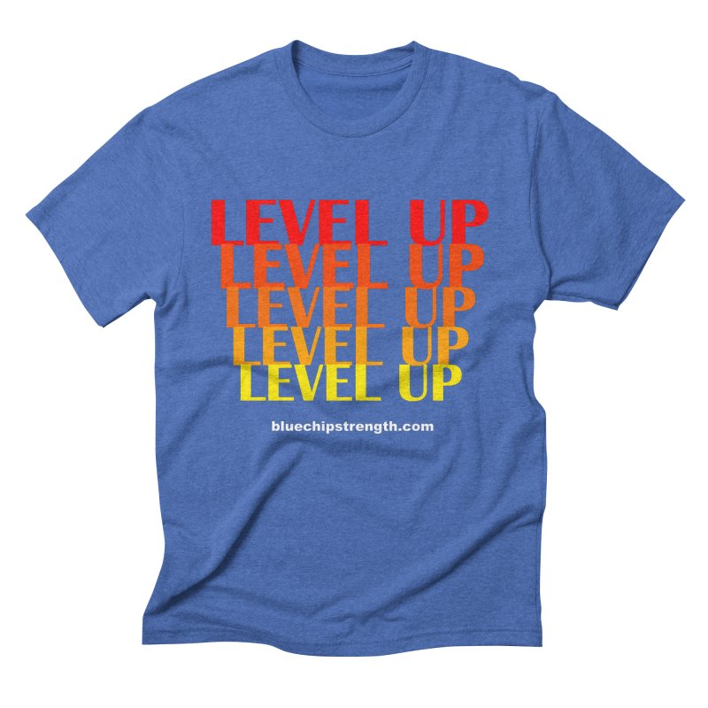 Level Up Men's Triblend T-Shirt by Blue Chip Mindset