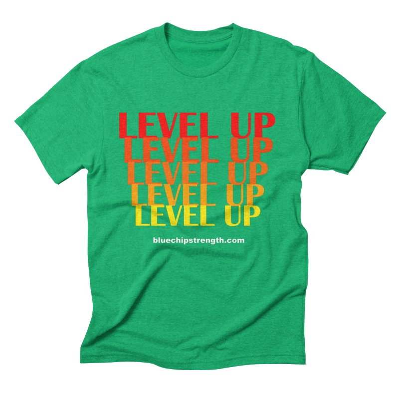 Level Up Men's Triblend T-Shirt by Blue Chip Mindset