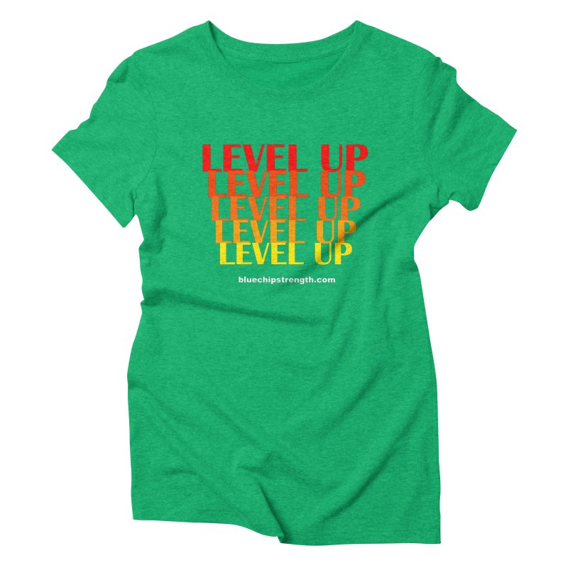 Level Up Women's Triblend T-Shirt by Blue Chip Mindset