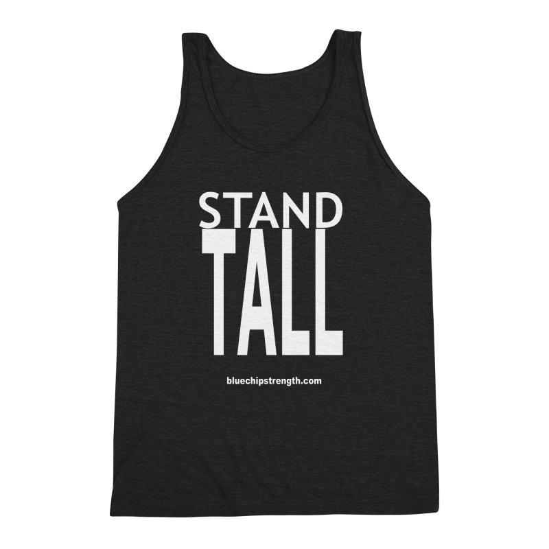 STAND TALL Men's Triblend Tank by Blue Chip Mindset